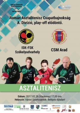 Play off elődöntő ISK-FSK Székelyudvarhely - CSM Arad